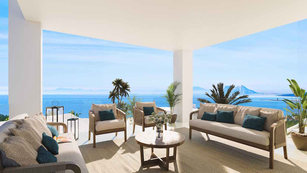 Modern Villas with panoramic sea view to Gibraltar and Africa